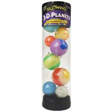 Glowing Galaxy 3D Planets in a Tube Great Expectations Glomnite
