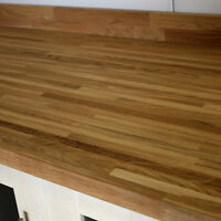 Oak Solid Wood Worktop 20mm Stave 3m X 960 X 40mm, Premium, Free Delivery