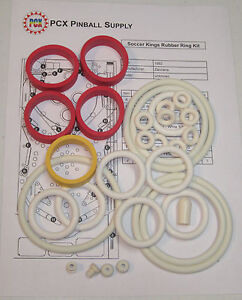 Details about 1982 Zaccaria Soccer Kings Pinball Machine Rubber Ring Kit
