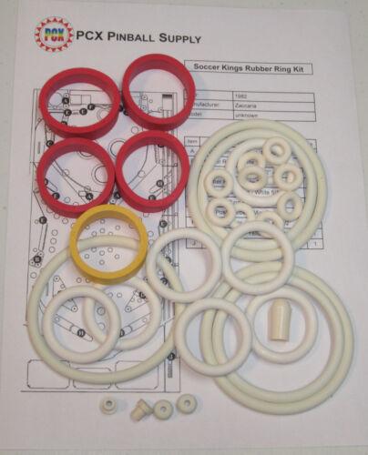1982 Zaccaria Soccer Kings Pinball Machine Rubber Ring Kit