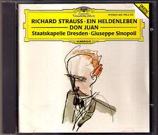 Giuseppe SINOPOLI: R. STRAUSS Ein Heldenleben Don Juan CD Staatskapelle Dresden