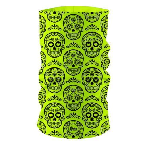 Neon Fluorescent Mexican Skulls GF2 Headband Multifunctional  Bandana Face Cover