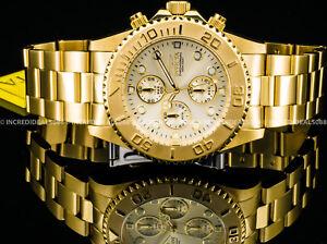 c258fb95017 Invicta Men Pro Diver Chronograph 18k Gold Plated Champagne Dial ...