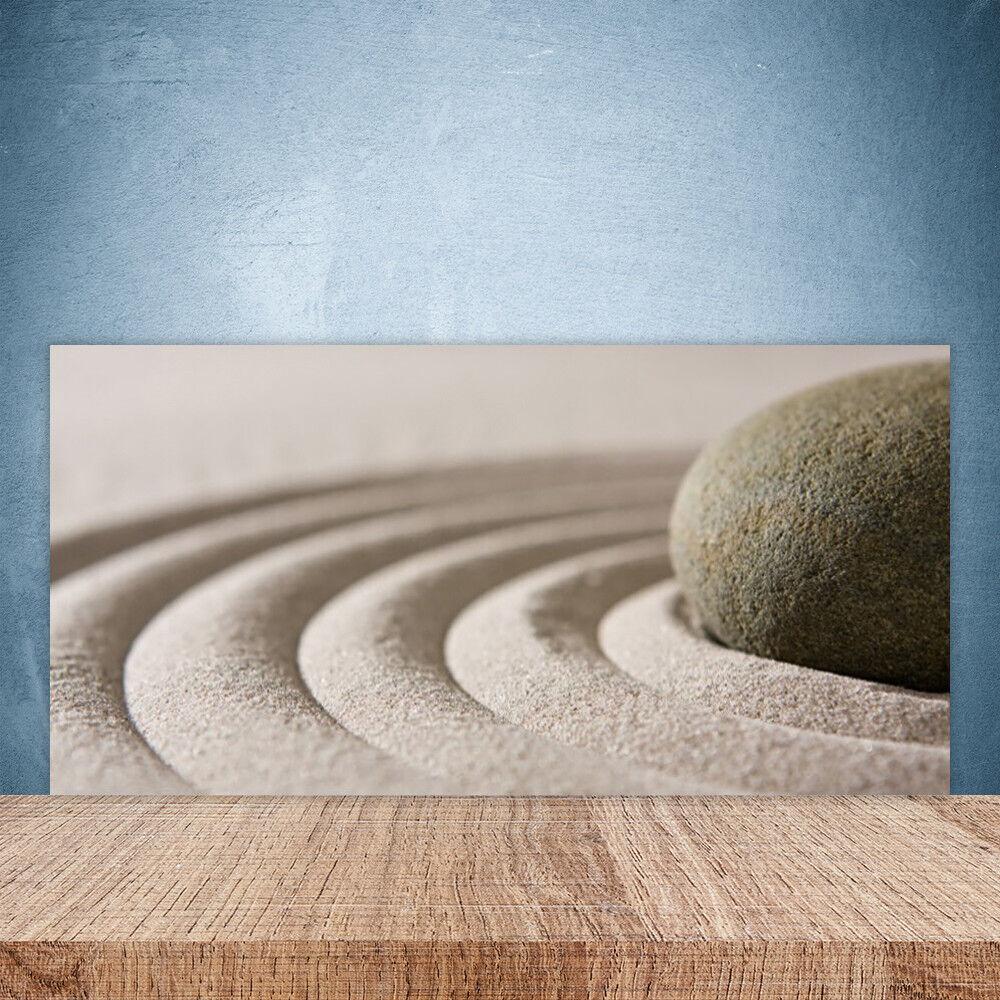 Crédence de cuisine en verre Panneau Paroi 100x50 Art Sable Pierre