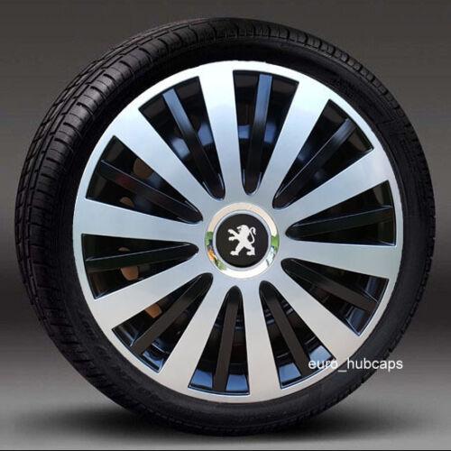 "Hub Caps Quantity 4 Covers to Peugeot 307//308 Set of 4 15/"" wheel trims"
