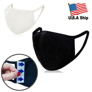 3d Face Mask With Filter Pocket 100 Organic Cotton Reusable Washable 1ea Ebay