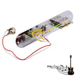 Vorverdrahtete-3-Wege-Schalter-geladene-Steuerplatte-fuer-Tele-Gitarre-mit-Toepfen