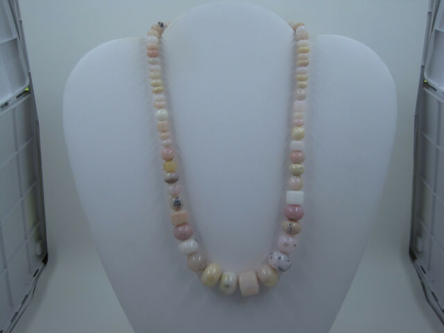 DTR JAY KING 925 STERLING Silver Chunky Pink White Graduated Bead Necklace *518