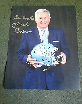 North Carolina Football Coach Mack Brown autographed 8x10 ...