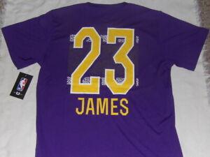 Details about NBA LA Los Angeles Lakers Lebron James #23 Kids XL (18-20) T-Shirt NWT