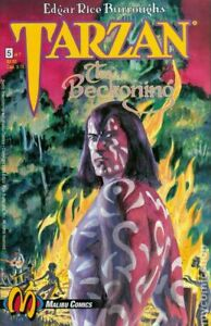 Tarzan-The-Beckoning-5-Malibu-Comics-1st-Print-1993-unread-VF