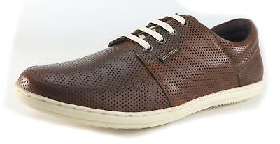 Red Tape Mens Casual Tan Leather Pepperpot Trainers Smart Shoes UK 7-11