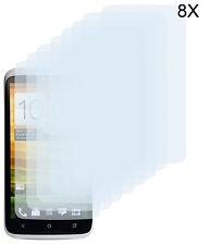 8 x Schutzfolie HTC ONE X XL X+ Klar Clear Displayschutzfolie Screen Protector
