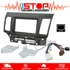 mitsubishi lancer cj 2007 2013 double din facia fascia kit iso image is loading mitsubishi lancer cj 2007 2013 double din facia