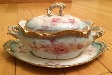Antique Limoges LS&S Gravy Boat 19th C Scalloped Lewis Strauss & Son