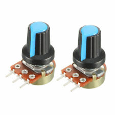 2pcs 5k Ohm Variable Resistors Rotary Carbon Film Taper Potentiometer With Knobs