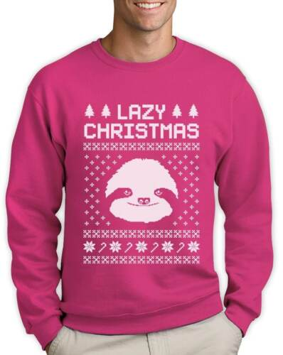 Big White Sloth Face Lazy Ugly Christmas Sweater Funny Sweatshirt Gift Idea