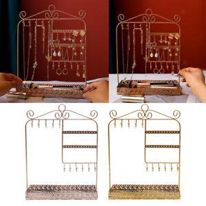Alle-in-1 Ohrring Halskette Schmuck Display Zeigen Rack Metall Ständer Halter