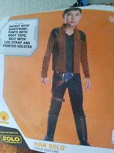 9c9450d48a91e NEW Han Solo Star Wars Costume Child Large 12-14 for 8-10 Years ...