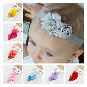 infant toddler baby girl flower headband newborn hair band