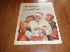 COLONEL SANDERS-Kentucky Fried Chicken AD-1968-Original Print