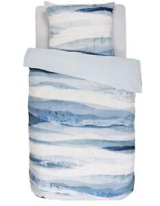 Vanezza Biber Flanell Bettwäsche 135x200 Bryhm Aquarell Blau Blue Ebay