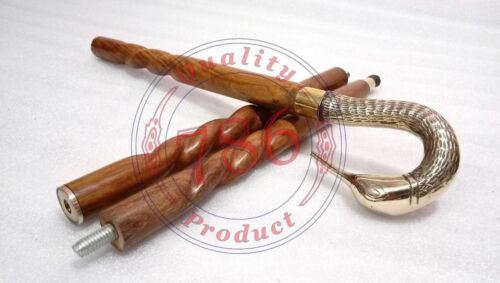 Antique Bird Handle Victorian king Design Wooden Walking Cane Stick Vintage
