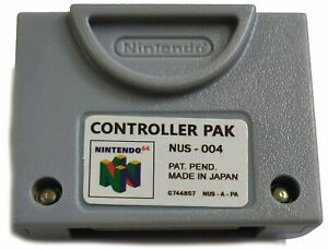 Nintendo 64 Memory Card Pak Controller Pack 256KB - New Replacement for NUS-004