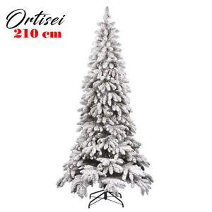Albero Di Natale Slim 210.Albero Di Natale Innevato Slim 210 Cm Ortisei 1011 Rami Super Folto Effetto Neve Ebay