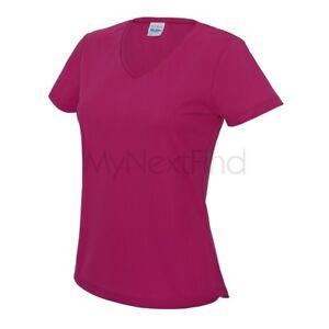 AWDis-Just-Cool-Damen-V-Neck-Girlie-Sport-Gym-Cooles-Tee-T-Shirt