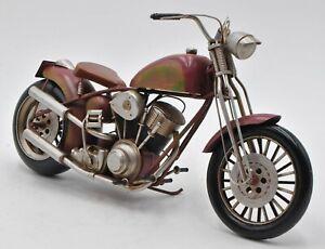 Metal Crafts (Antique Motorcycle Model) Harley Davidson Chopper Motorbike Bike