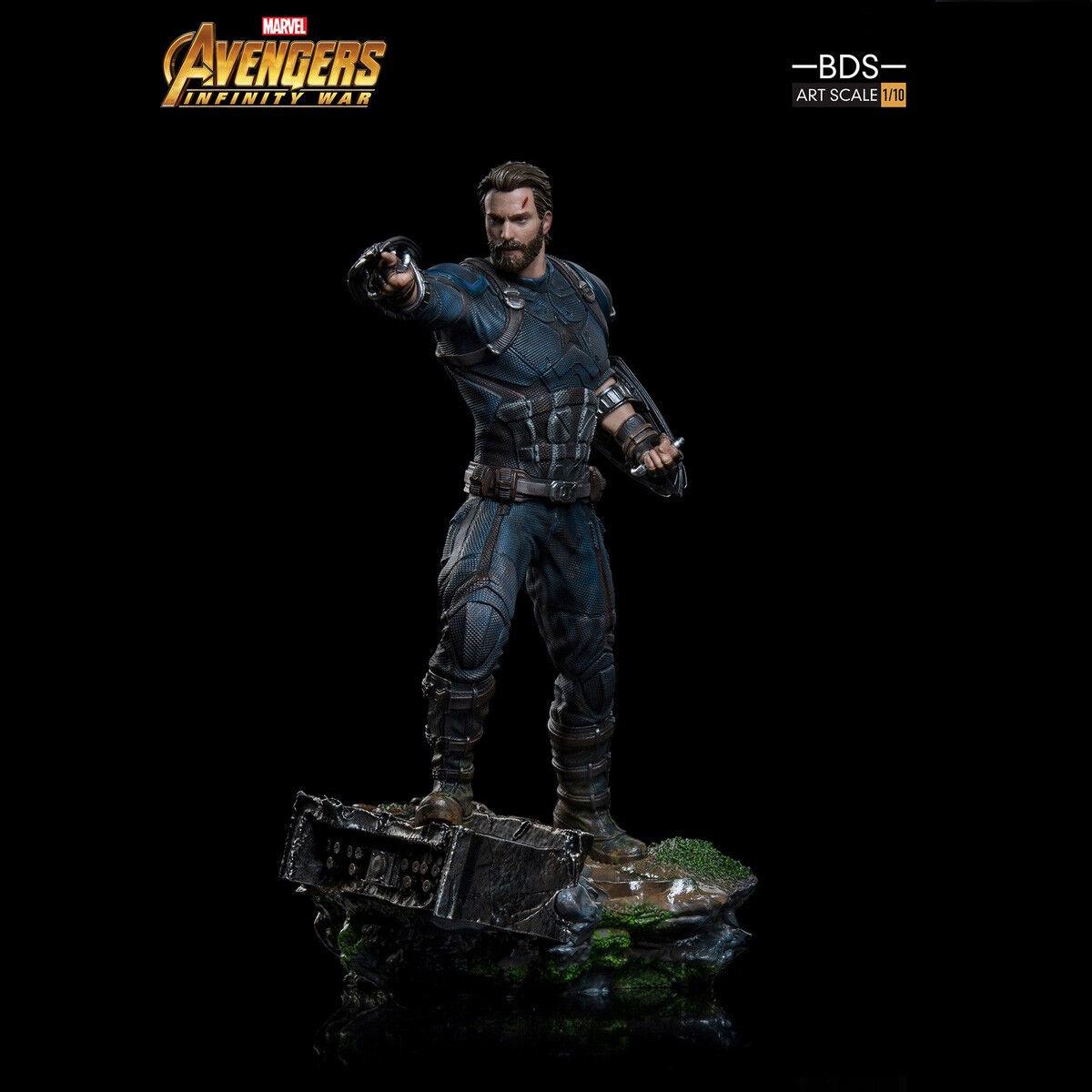 Iron Studios Captain America förundras Avengers Infinity War BDS konst skala 1  10 leksak