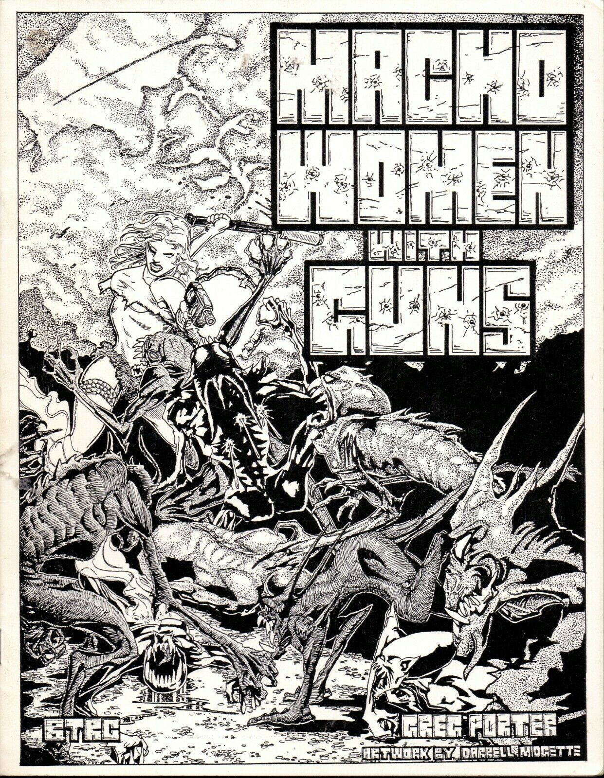 JDR RPG JEU DE ROLE   BTRC MACHO WOMEN WITH GUNS 4 LIVRETS 1988 1990