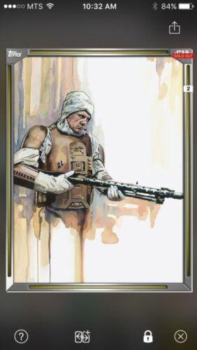Topps Star Wars Digital Card Trader Gold Premiere Paintings Dengar Insert Award
