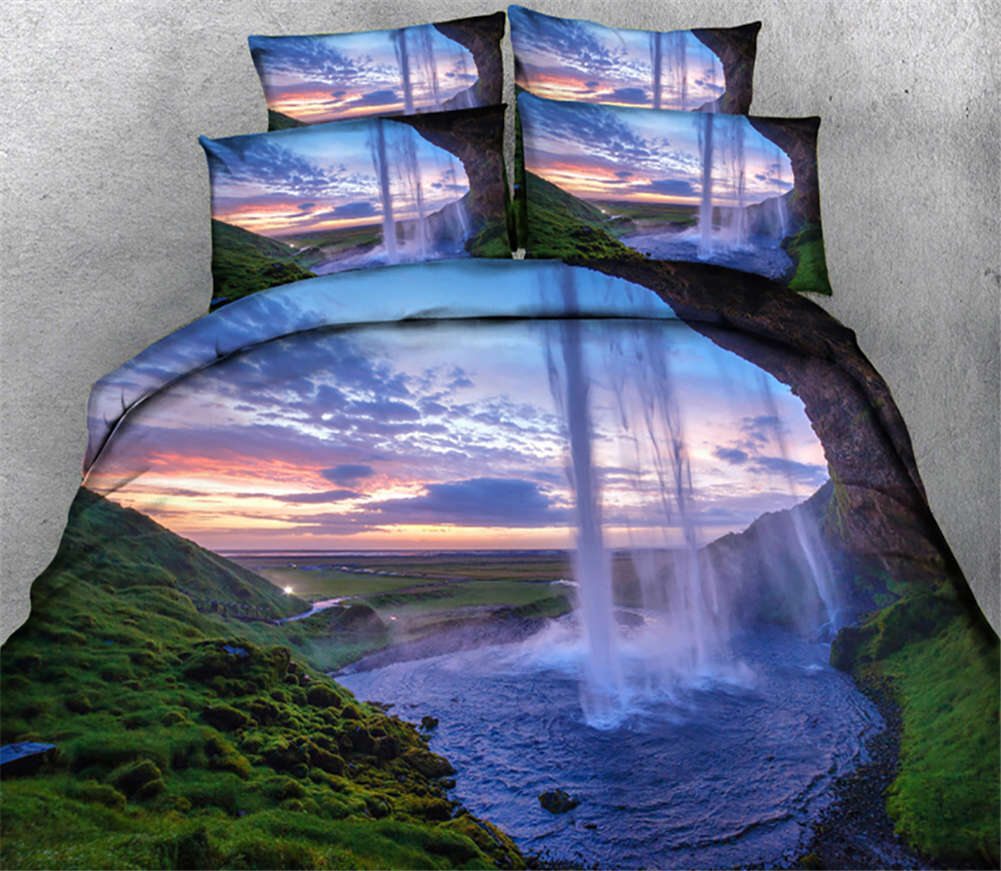viola Sunset Glow 3D Printing Duvet Quilt Doona Covers Pillow Case Bedding Sets