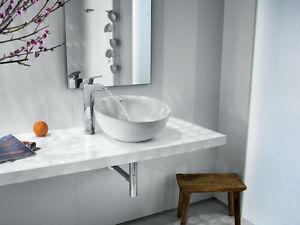 Moderner Waschtisch roca bol rund waschbecken weiss sanitär keramik moderner waschtisch