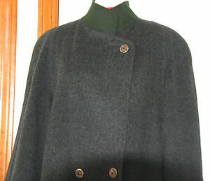 Vintage-Ladies-Grey-Loden-Long-Coat-Overcoat-Austria-Tyrol-Medium