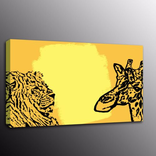 Canvas Prints Home Decor Wall Art Picture Oil Painting Yellow Animals Deer Tiger
