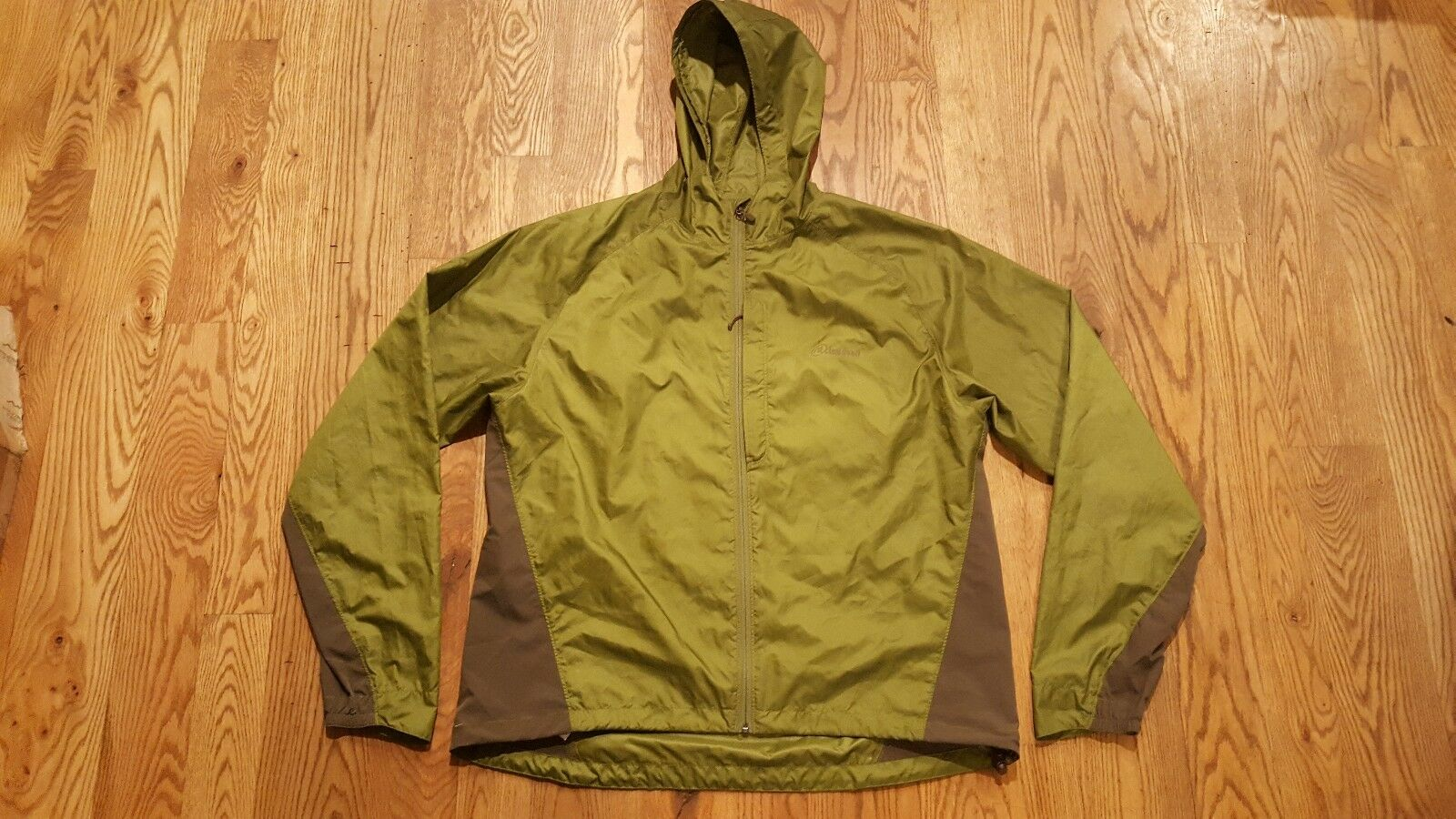 RARE Cloudveil Hooded jacke - herren XL Grün HIKE RIDE ski Jackson hole euc