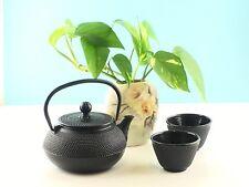 Cast Iron Tea Kettle 2 Cups Set Contemporary Dutch Hobnail Style w//Trivet 1200ml