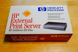 HP Jetdirect EX PLUS J2591A Network Print Server With Power Cable