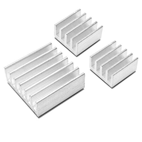 D HK Aluminum Heatsink x3pcs Protect OverClocking Raspberry Pi 2 /& Model B B