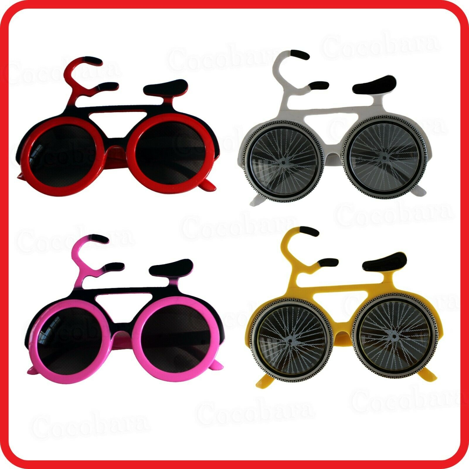 BIKE BICYCLE GLASSES SUNGLASSES - FUNNY COSTUME - DRESS UP - PARTY