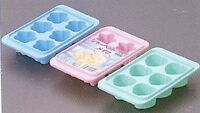 Japanese Plastic Ice Cube Tray Sakura Star Heart Shape 5207 S-1937