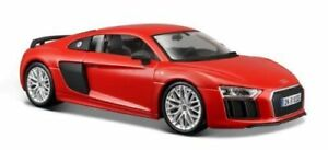 Maisto-1-24-Audi-R8-V10-Plus-Red-Diecast-Model-Racing-Car-Vehicle-NEW-IN-BOX