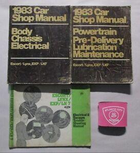 1983 FORD ESCORT LYNX EXP    LN7    SERVICE SHOP REPAIR MANUAL