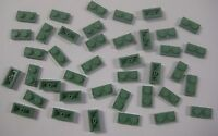 Lego Sand Green 1x2 Plates Lot Of 40 Pieces Harry Potter 3023 Bulk All