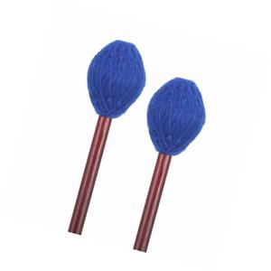 Frienda 1 Pair Medium Hard Yarn Head Keyboard Marimba Mallets with Maple Handles