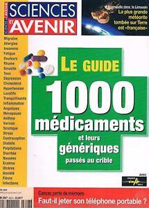 DéLicieux Science Et Avenir N°628 Juin 1999 Le Guide Des 1000 Medicaments