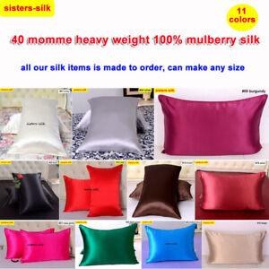 1pc 40mm Both Face 100 Mulberry Silk Pillow Case Pillow